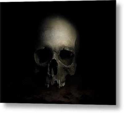 Male Skull Metal Print by Jaroslaw Blaminsky