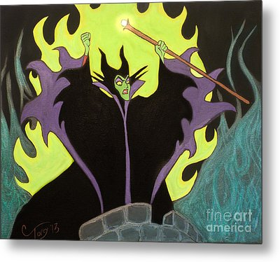 Maleficent Metal Print by Casey Tovey