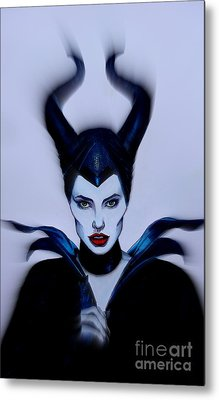 Maleficent Focused Metal Print