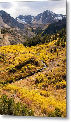 Malemute Peak In Autumn Metal Print by Adam Pender