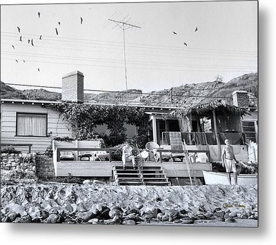 Malibu Beach House - 1960 Metal Print
