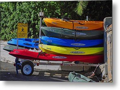Malibu Kayaks Metal Print by Gandz Photography