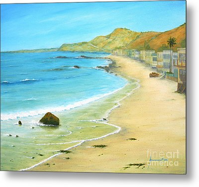 Malibu Road Metal Print by Jerome Stumphauzer