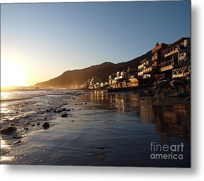 Malibu Topanga Sunset Metal Print by Trekkerimages Photography