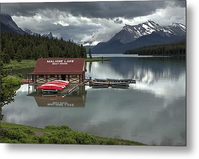 Maligne Lake Jasper Park Metal Print
