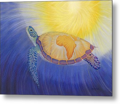 Mama Africa Turtle Metal Print