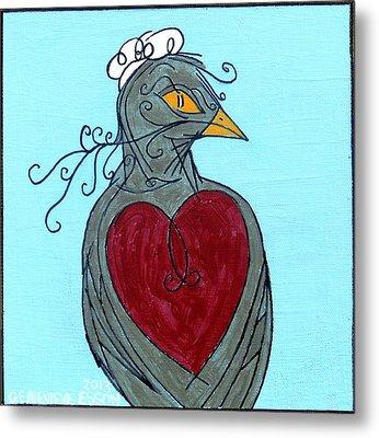 Mama Bird Detail Metal Print by Genevieve Esson