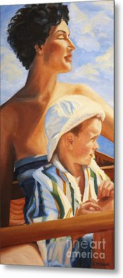 Metal Print featuring the painting Mama Goddess by Janet McDonald