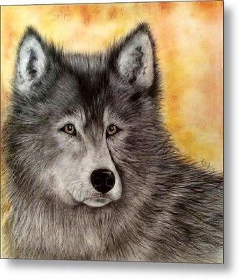 Mama Wolf Metal Print