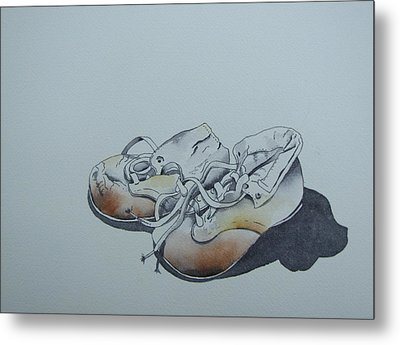 Mama's First Shoes-cira1930 Metal Print