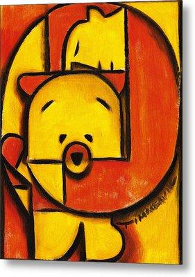 Man And Teddy Bear Art Print Metal Print by Tommervik
