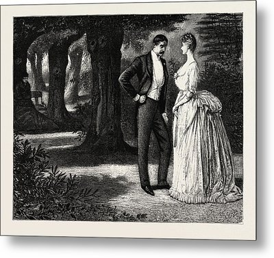 Man And Woman, 1888 Engraving Metal Print by Du Maurier, George L. (1834-97), English