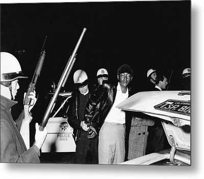 Man Arrested By La Police Metal Print by Underwood Archives