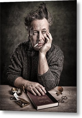 Man At The Table - Lonely Hearts Club Metal Print by Gary Heller