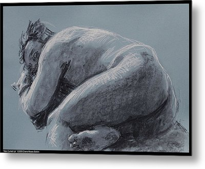 Man Curled Up Metal Print by Diana Moses Botkin