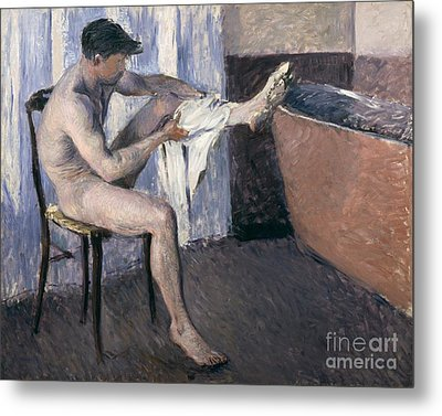 Man Drying His Leg  Metal Print