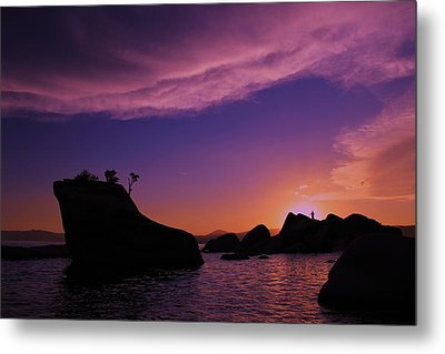 Metal Print featuring the photograph Man In Sun At Bonsai Rock by Sean Sarsfield