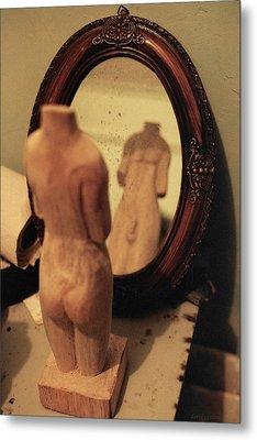 Man In The Mirror Metal Print by David  Cardona