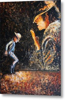 Man In The Mirror Metal Print by Nik Helbig