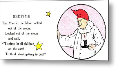 Man In The Moon Metal Print by Granger