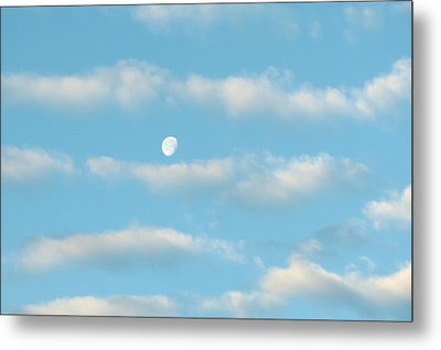 Man In The Moon In The Clouds Metal Print by Fortunate Findings Shirley Dickerson