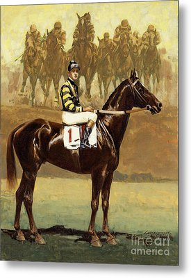 Man O' War  Metal Print by Don  Langeneckert
