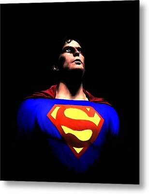 Metal Print featuring the painting Man Of Steel by Jeff DOttavio