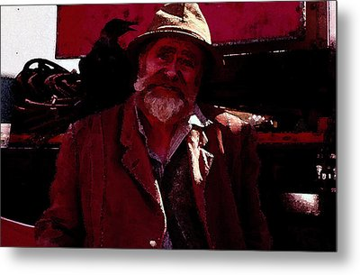 Metal Print featuring the digital art Man Of The Sea by Cathy Anderson