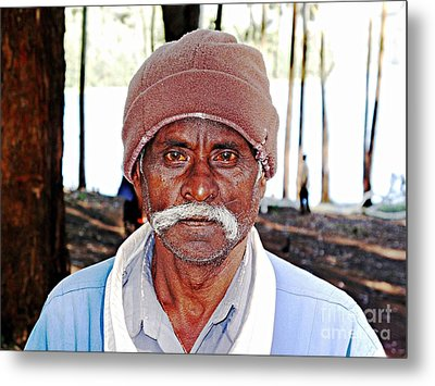 Man With A Mustache Metal Print by Ethna Gillespie