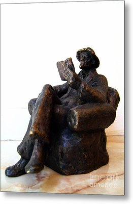 Man With Book Metal Print by Nikola Litchkov