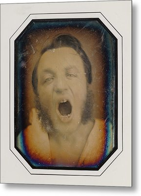 Man With Open Mouth Unknown Maker, French About 1852 Metal Print by Litz Collection