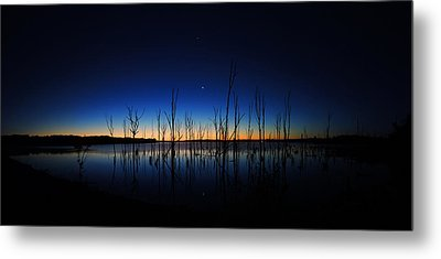 Manasquan Reservoir At Dawn Metal Print