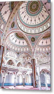Manavgat Mosque Interior 02 Metal Print by Antony McAulay