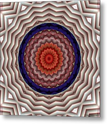 Metal Print featuring the digital art Mandala 10 by Terry Reynoldson