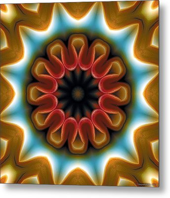 Metal Print featuring the digital art Mandala 100 by Terry Reynoldson