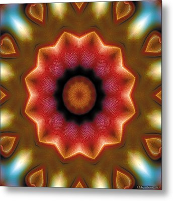 Metal Print featuring the digital art Mandala 103 by Terry Reynoldson