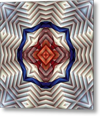 Metal Print featuring the digital art Mandala 11 by Terry Reynoldson