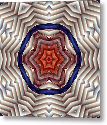 Metal Print featuring the digital art Mandala 12 by Terry Reynoldson