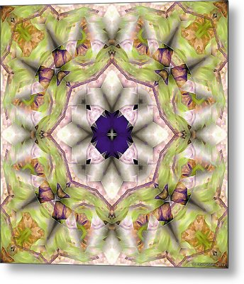 Metal Print featuring the digital art Mandala 127 by Terry Reynoldson