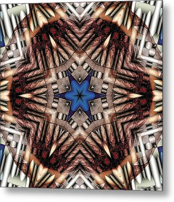 Metal Print featuring the digital art Mandala 13 by Terry Reynoldson
