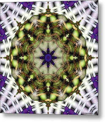 Metal Print featuring the digital art Mandala 21 by Terry Reynoldson