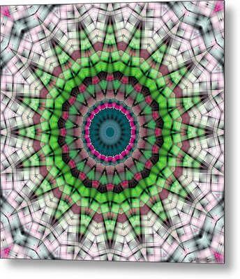 Metal Print featuring the digital art Mandala 26 by Terry Reynoldson