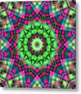 Metal Print featuring the digital art Mandala 29 by Terry Reynoldson