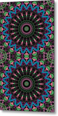 Mandala 35 For Iphone Double Metal Print by Terry Reynoldson