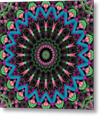 Metal Print featuring the digital art Mandala 35 by Terry Reynoldson