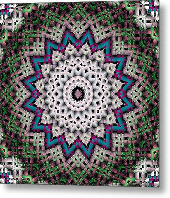 Metal Print featuring the digital art Mandala 37 by Terry Reynoldson