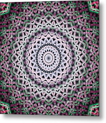 Metal Print featuring the digital art Mandala 38 by Terry Reynoldson