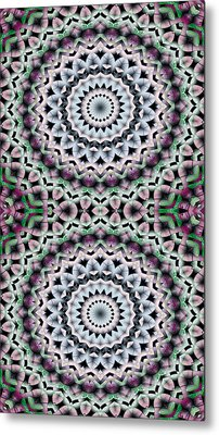 Mandala 40 For Iphone Double Metal Print by Terry Reynoldson