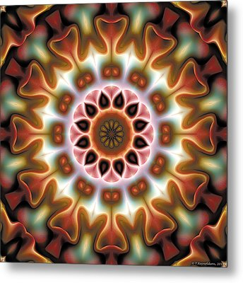 Metal Print featuring the digital art Mandala 67 by Terry Reynoldson
