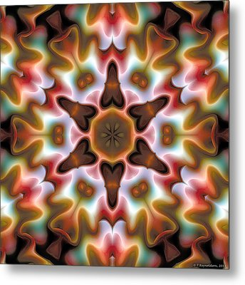 Metal Print featuring the digital art Mandala 68 by Terry Reynoldson